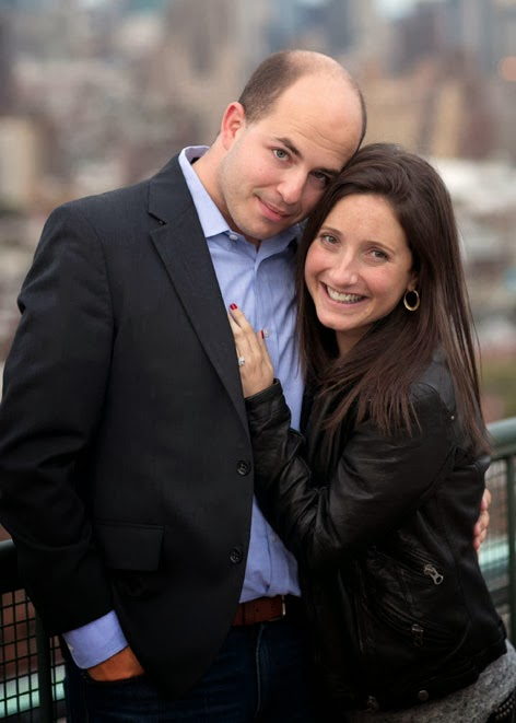 Brian Stelter and Jamie Shupak chose to include a hashtag on their wedding yarmulke