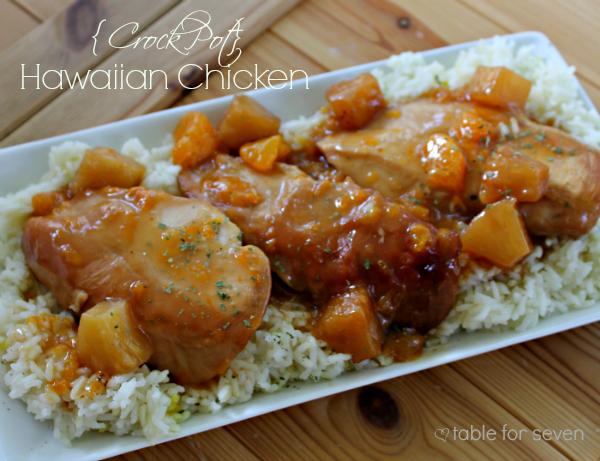 Crock Pot} Hawaiian Chicken • Table for Seven