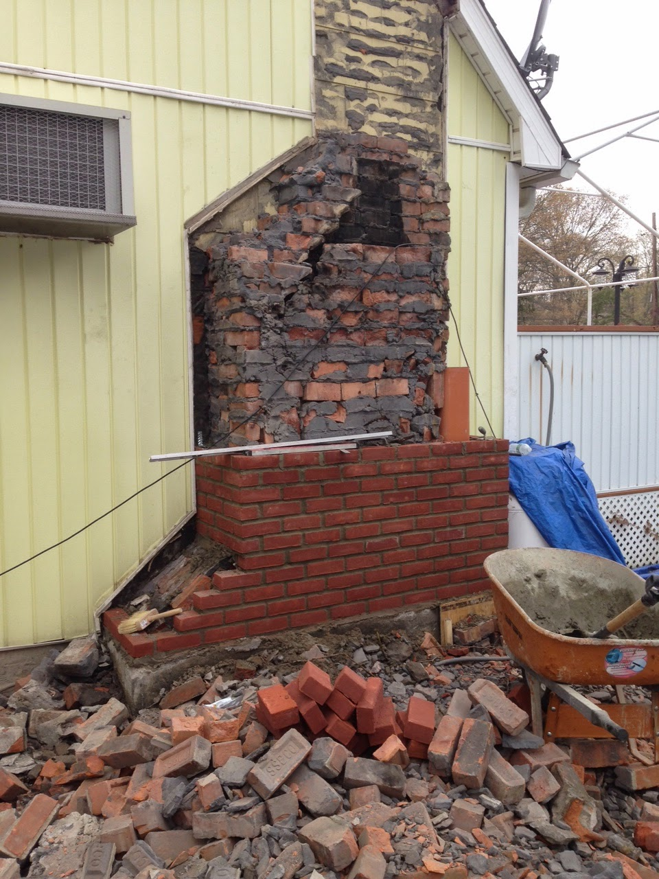 How to remove a chimney - Wondering What A Chimney Rebuild Looks Like