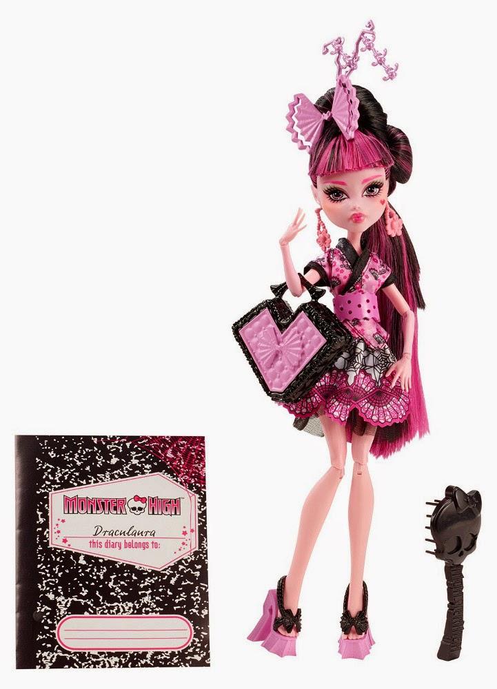 JUGUETES - MONSTER HIGH : Monster Exchange  Draculaura   Muñeca  Producto Oficial   Mattel   A partir de 6 años
