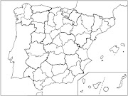 Examen de las provincias de España. Este es el mapa que fotocopiaré en el . (mapa mudo provincias espaã±a)