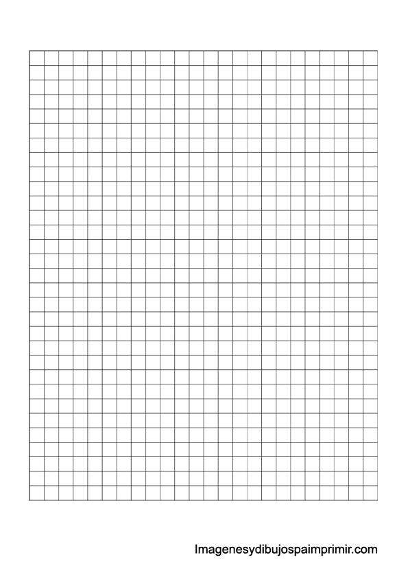Folios cuadriculados para imprimir