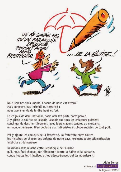 Pef et Alain Serres signent...