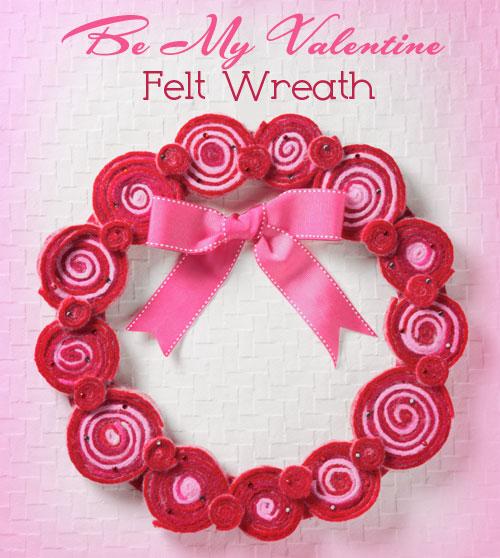 iLoveToCreate Blog: Be My Valentine Felt Wreath