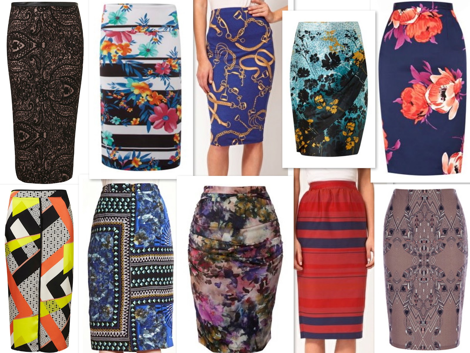 Lemonade Pockets: Printed pencil skirts