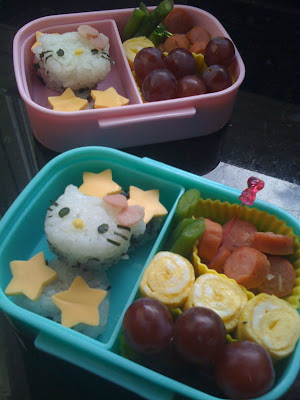 Hello Kitty Bento for kids, easy and yummy.