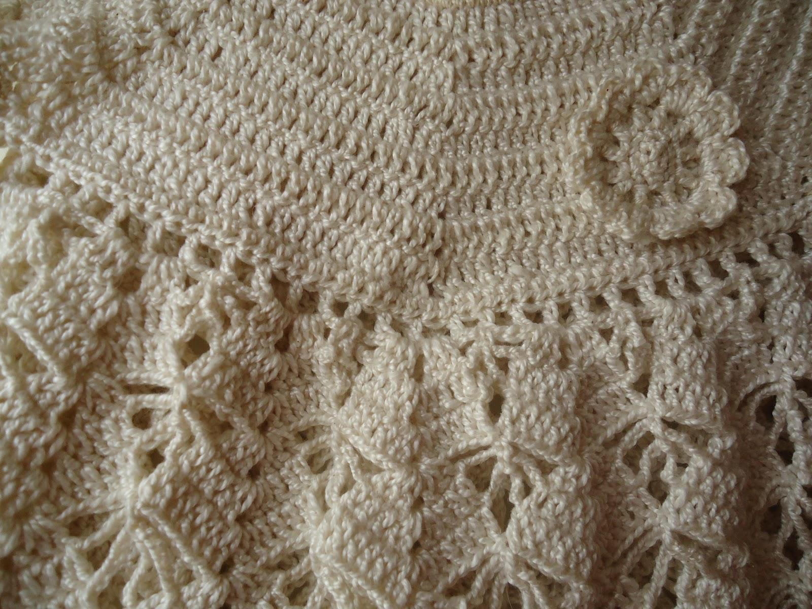 MIL AZAHARES BLANCOS: Vestidito de niña en algodón a crochet (de 0 a ...