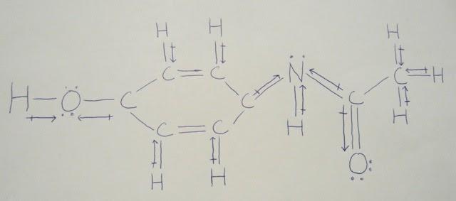 lewis structure of acetaminophen