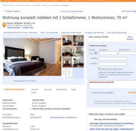 wohnung komplett m bliert mit 2 schlafzimmer 1 wohnzimmer 70 m. Black Bedroom Furniture Sets. Home Design Ideas