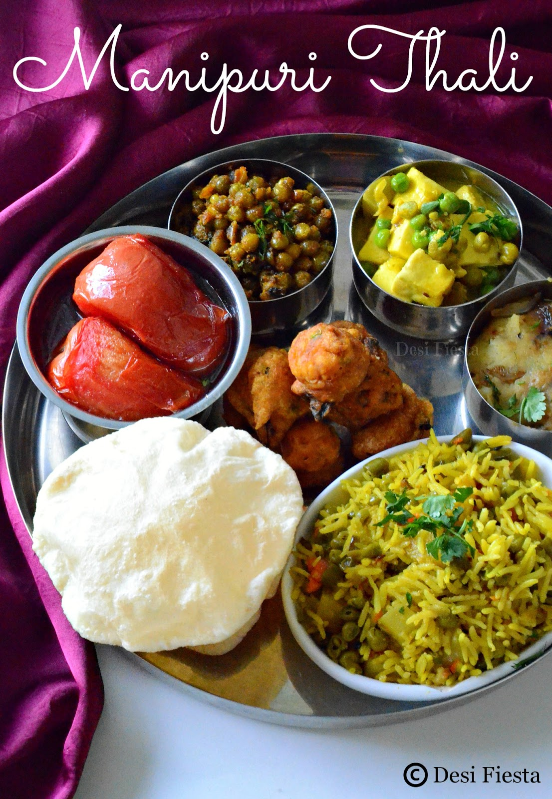Manipuri thali manipur cuisine desi fiesta for Cuisine names