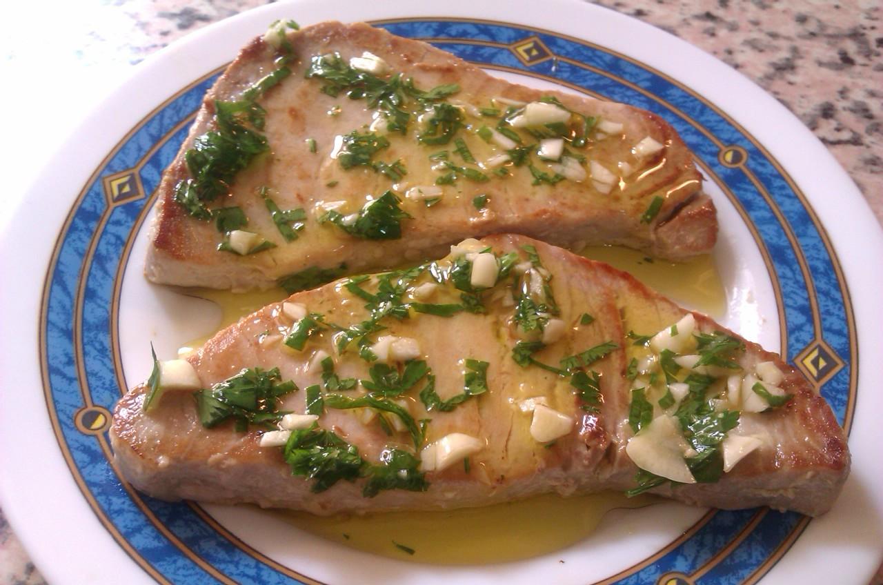 Bitacora gastronomica de miguel bonmati eco atun a la plancha en salsa verde - Salsa para ternera a la plancha ...