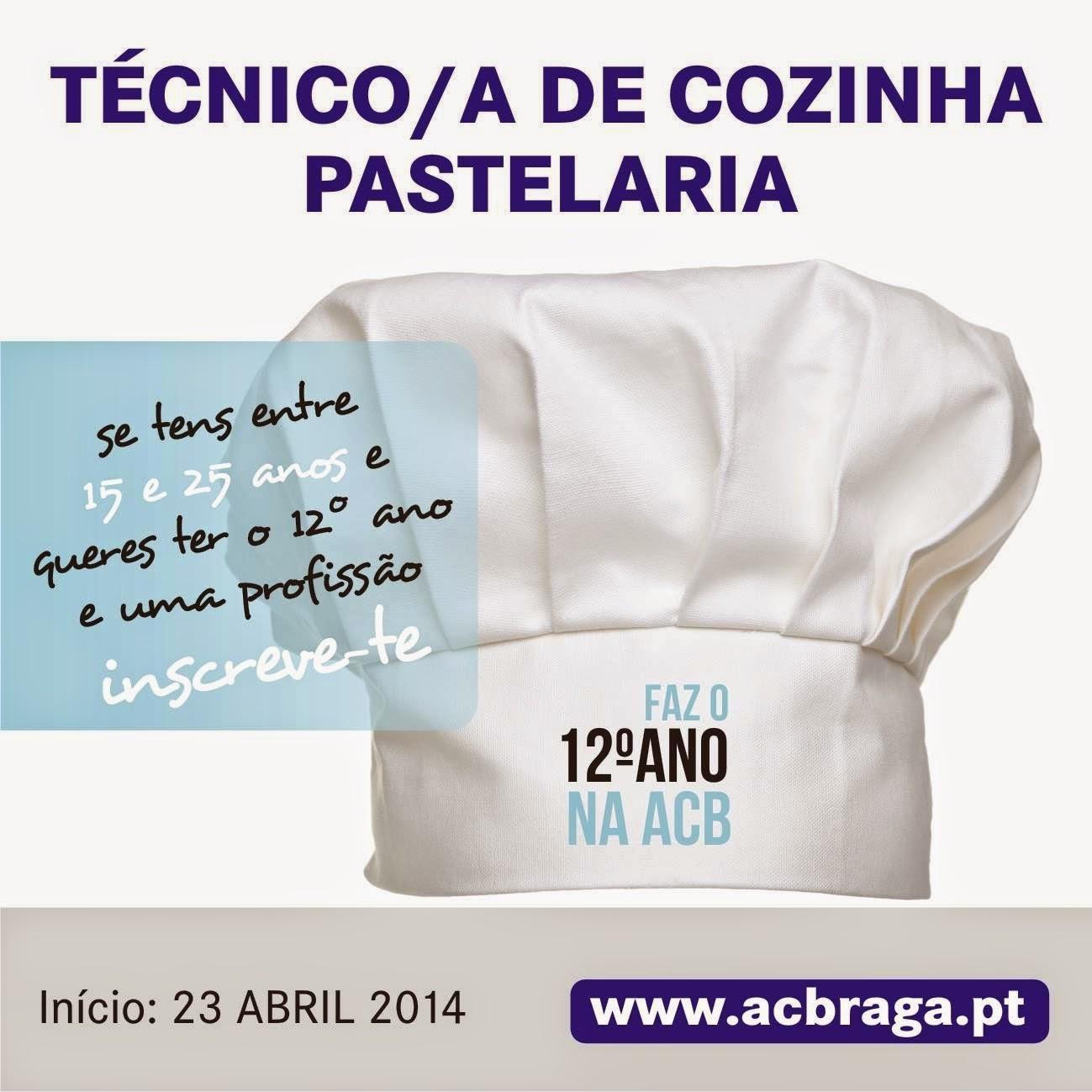 Curso de aprendizagem: Cozinha / Pastelaria – Braga (com equivalência ao 12º)