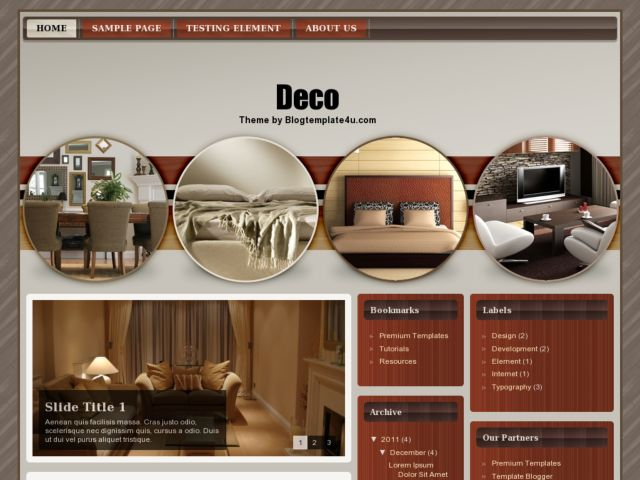 Deco Blogger Template