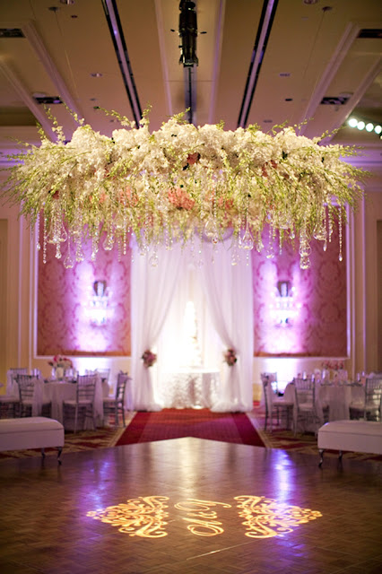 Wedding Flower Chandelier
