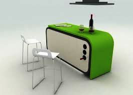 mini bar in acrylic solid surface topping for house