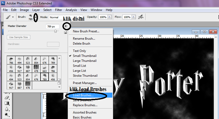 Membuat Text Efek Harry Potter Dengan Photoshop