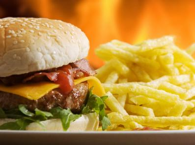 Decoding the Good and the Bad of Fast Food  - burger sandwich - french fries