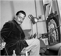 Salvador Dalí pintando quadro para Destino