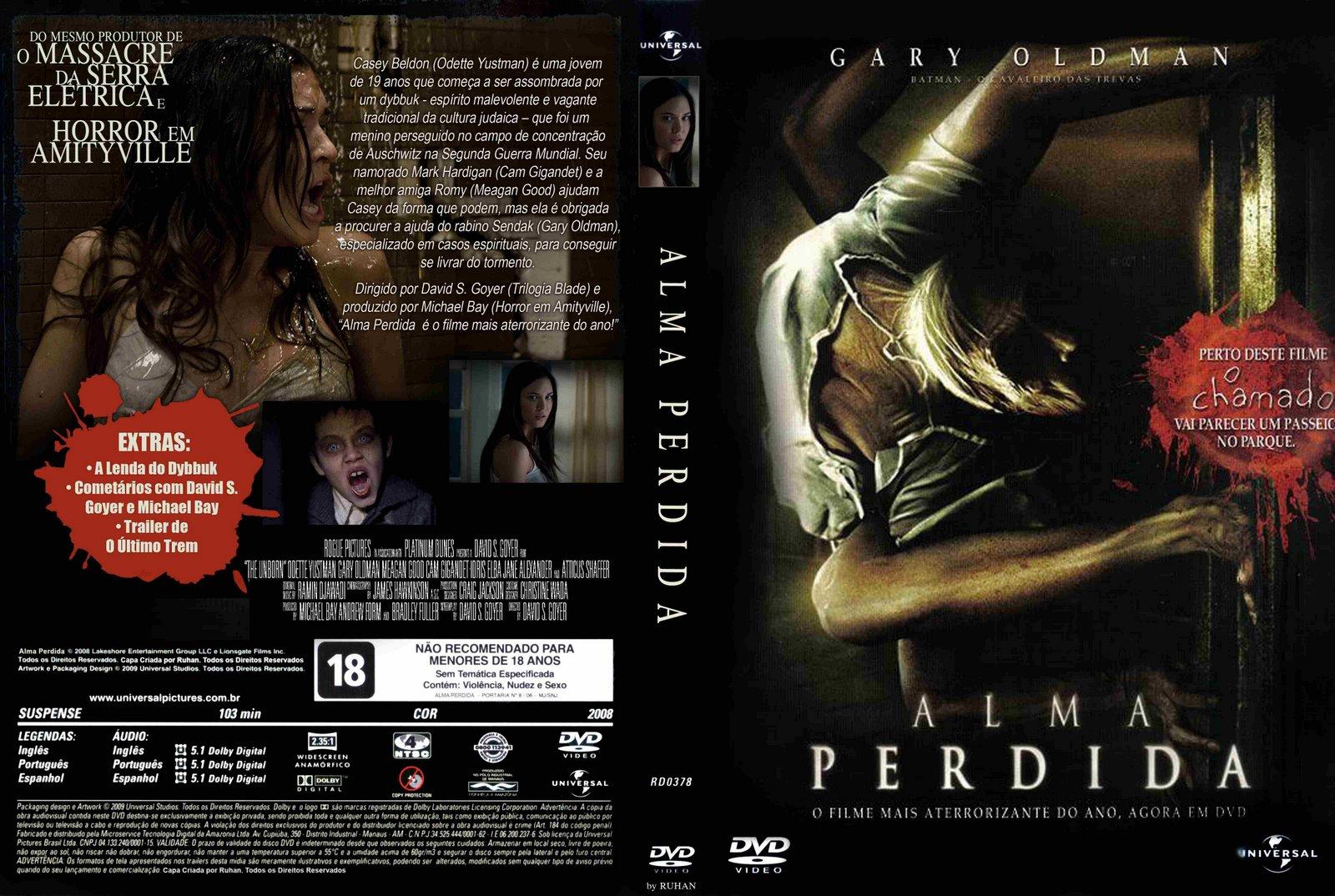 Filme Alma Perdida DVD Capa