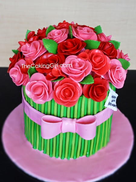 Thecakinggirl cute fondant cake designs by thecakinggirl pretty gumpaste flowers cake mightylinksfo