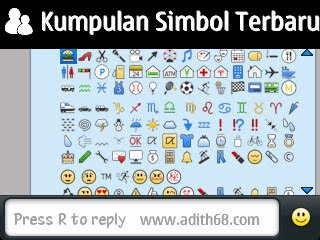 Kumpulan Simbol-Simbol Terbaru Blackberry | Fancy Character for Blackberry