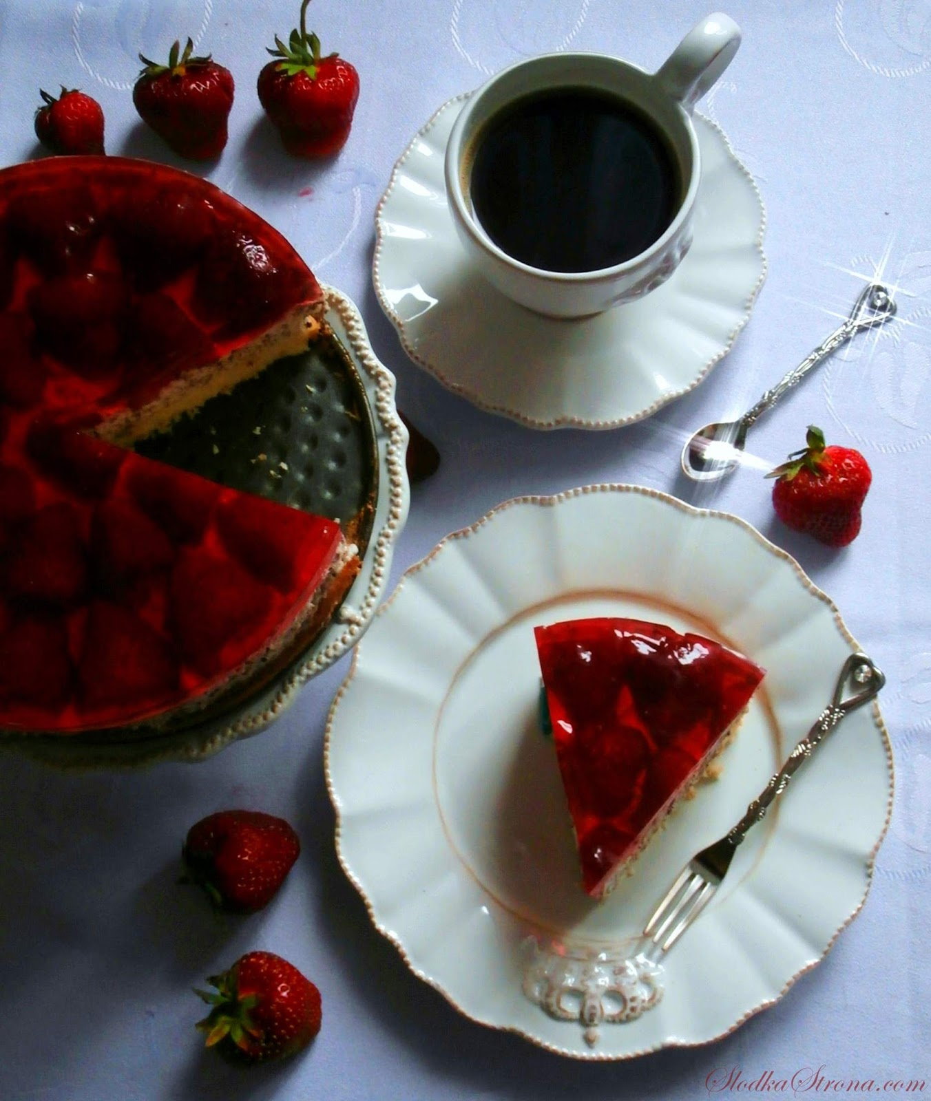 truskawki ciasto przepis