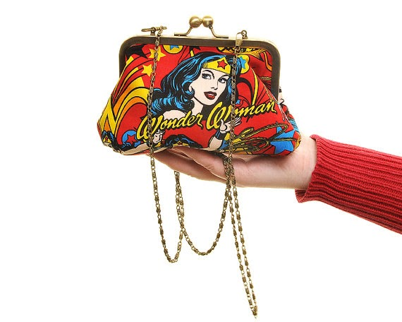 Wonder woman clutch - Lucy's Designs - Hello, Handbag