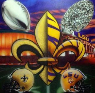 Saints LSU Fleur De Lis http://madeinthesouth.blogspot.com/2012/01/its.html