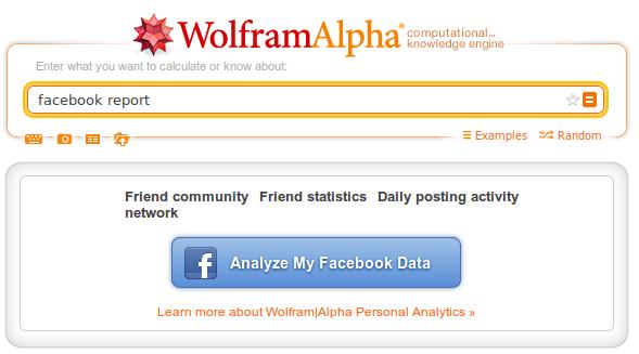 facebook wolframalpha
