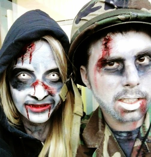 couples halloween face makeup ideas