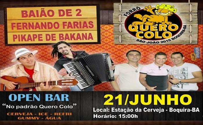 FORRÓ QUERO COLO - 21 JUNHO / BOQUIRA-BA