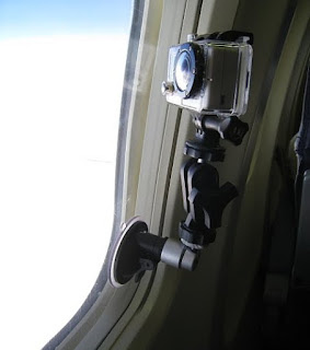 GoPro Suction Mount for Plane Flight Time Lapse