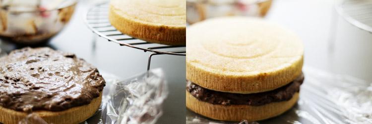 tarta pétalo de merengue