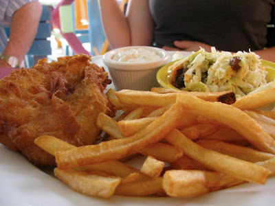 Fish and chips at Smokey Joe's, Aruba