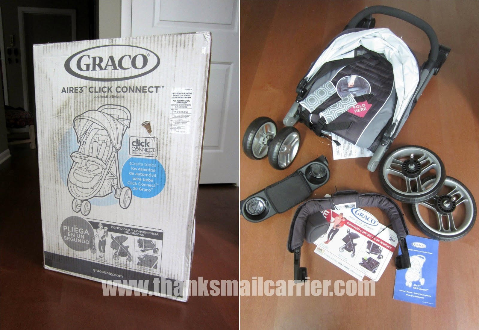 Graco Aire3 stroller assembly
