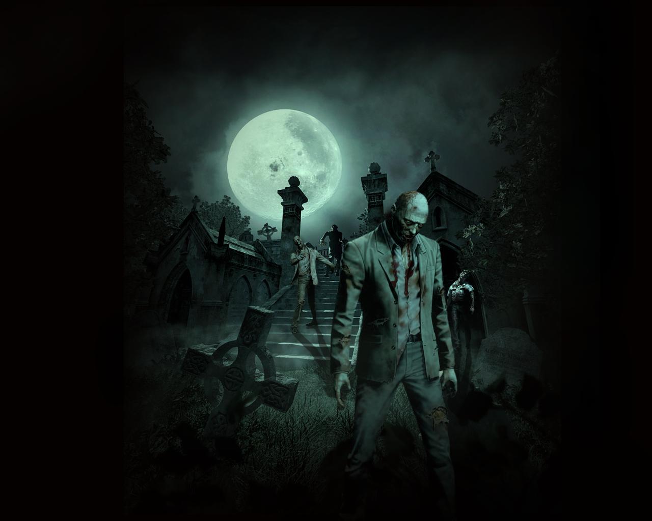Scary Zombie Backgroun...