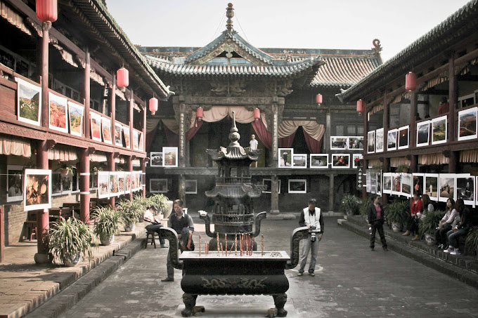 Chinese courtyard, Pingyao architecture, traditional china, old chinese style