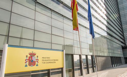 El Ministerio de Asuntos Exteriores y de Cooperación de España