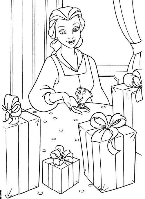 coloring pages disney princesses christmas - photo#34
