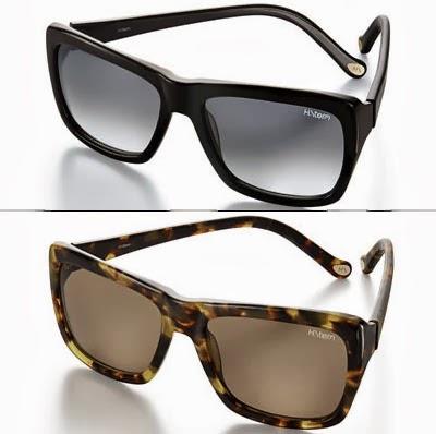óculos de sol feminino modelo retangular com armações pretas ou marrom
