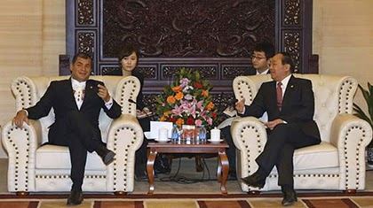 China invertirá 5 296 millones de dólares en Ecuador