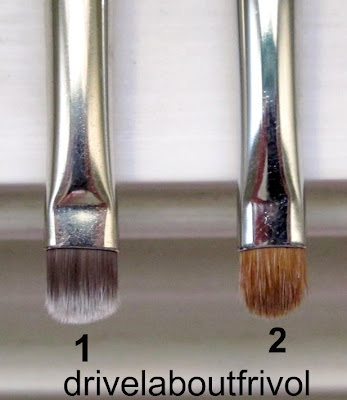 brush comparison MAC 231, Chikuhodo Artist Red 6-1