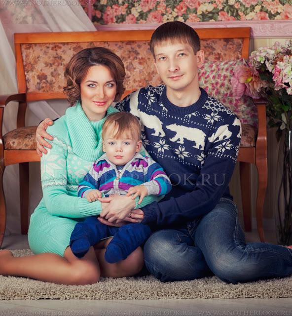 всей семьей на фотосессии