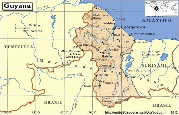 Mapa de GUYANA, Atlas