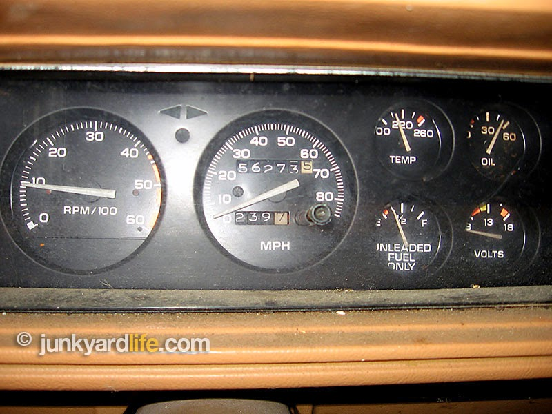 Gauges and dash complete and showing 56,000 miles