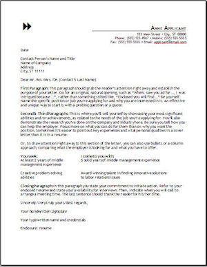 cover letter format - What Is The Purpose Of A Cover Letter