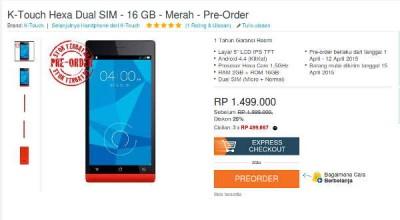 K-Touch Hexa Dual SIM Siap Dipesan, Harga Rp1,4 Juta-an