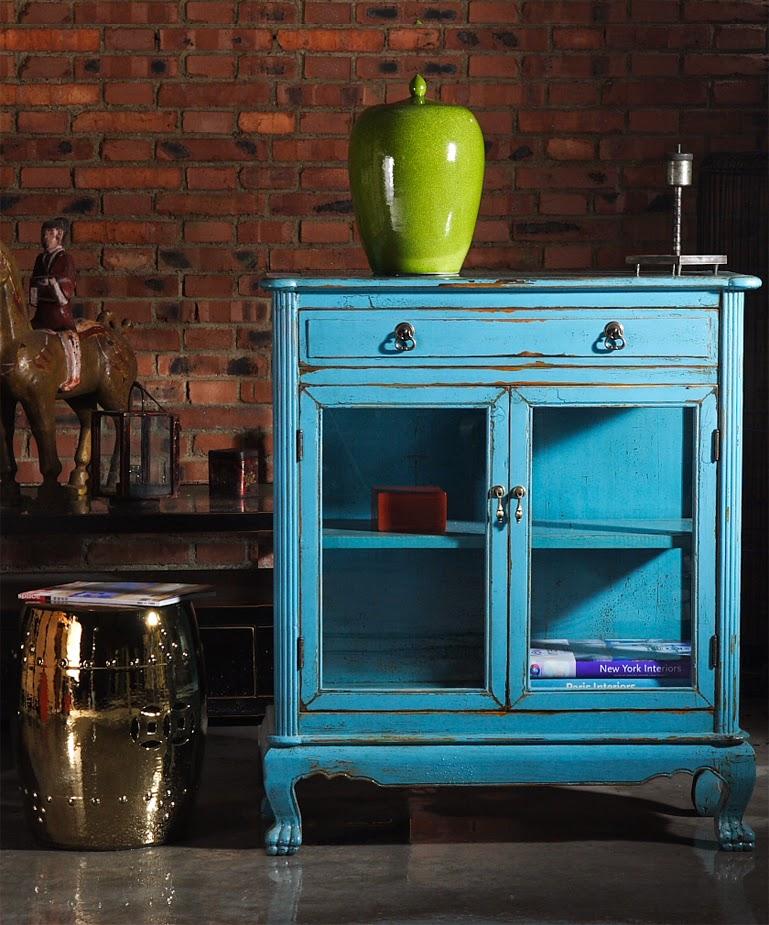 Armario colonial azul turquesa en Alicante - Frescura y elaboración ...