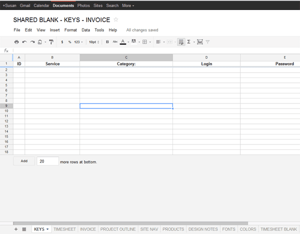 google docs invoice template
