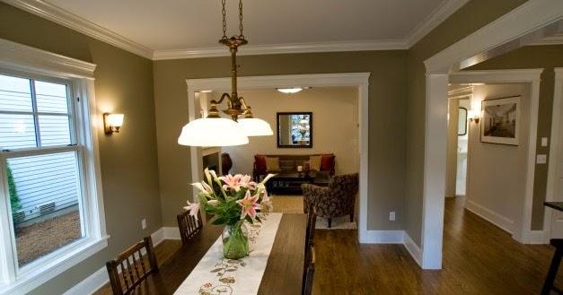 ide cat untuk ruang keluarga elegan desain rumah griya